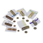 Tubo para monedas Click Coin 2 euros violeta, transparente 60 x 10 x 85 mm 100 unidades
