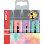 Marcador fluorescente STABILO BOSS Original Pastel punta biselada colores surtidos 4 unidades