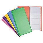 Tarjetero plano Grafoplás Basic Colors rojo 160 Tarjetas 14 x 29 cm