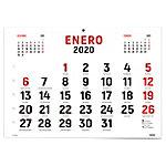 Faldilla para calendario de pared Ingraf 1 mes por página 2020 blanco