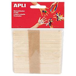 Palo de madera APLI 50 unidades