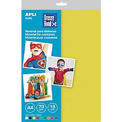 Material para disfraces APLI Dressy Bond colores surtidos A4 tela 18 unidades