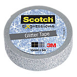 Cinta adhesiva 3M Scotch Expressions plata 15 mm x 5 m