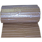 Rollo de burbujas laminado con papel kraft Sealed Air marrón 1.200 mm