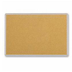 Tablero corcho Niceday marco plástico 120 x 90 cm marrón