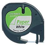 Cinta para rotuladora DYMO Letratag negro sobre blanco 12mm (a) x 1,2cm (h) x 4m (l)