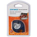 Cinta para rotuladoara DYMO Letratag negro sobre plata 12mm (a) x 4m (l) 4 m