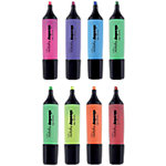 Marcador fluorescente Niceday HC1 5 punta biselada colores surtidos 8 unidades