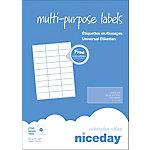 Etiqueta multifunción Niceday 980455 blanco 70 x 31 mm 100 hojas de 27 etiquetas