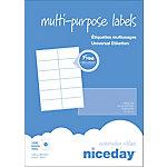 Etiqueta multifunción Niceday 980467 blanco 105 x 48 mm 100 hojas de 12 etiquetas