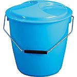 Cubo basura plástico Trilla Denox 16 litros 33 cm azul