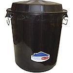 Contenedor de basura Denox Industrial plástico 50,5 cm negro