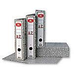Archivador de palanca Grafoplás 75 mm cartón 2 anillas Folio jaspeado gris