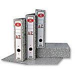 Archivador de palanca Grafoplás 75 mm cartón 2 anillas A4 jaspeado gris