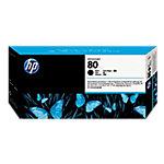Cabezal de impresión y limpiador HP original 80 negro c4820a