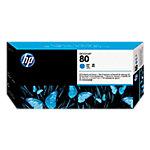 Cabezal de impresión y limpiador HP Original 80 Cian C4821A
