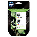 Cartucho de tinta HP original 57 3 colores c9503ae 2 unidades