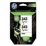 Cartucho de tinta HP Original 343 3 Colores CB332EE 2 unidades