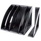 Organizador vertical CEP negro 4 Compartimentos poliestireno 30 x 22 x 22 cm