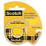 Cinta adhesiva de doble cara Scotch 655 transparente 1,2 cm