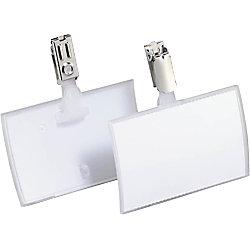 Identificador Click-Fold DURABLE con clip Click Fold 90 x 54 mm 25 unidades