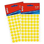 Etiqueta adhesiva redonda APLI 2051 Amarillo 315 etiquetas por paquete