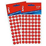 Etiqueta adhesiva redonda APLI 2053 Rojo 315 etiquetas por paquete