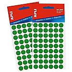 Etiqueta adhesiva redonda APLI 2054 Verde 315 etiquetas por paquete