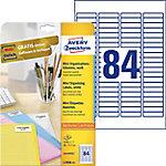 Etiqueta láser mini AVERY Zweckform L7656 25 blanco 46 x 11,1 mm 84 hojas de 25 etiquetas