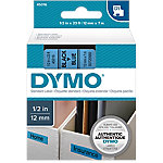 Cinta para rotuladora DYMO 45016 negro sobre azul 12mm (a) x 7m (l)