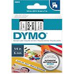 Cinta para rotuladora DYMO D1 negro sobre blanco 6mm (a) x 7m (l) 7 m