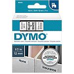 Cinta para rotuladora DYMO 45013 negro sobre blanco 12mm (a) x 7m (l) 7 m