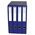 Módulo de 4 carpetas Office Depot 30 mm cartón forrado en polipropileno 2 anillas A4 azul