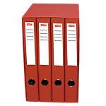 Módulo de 4 carpetas Office Depot 30 mm cartón forrado en polipropileno 2 anillas A4 rojo