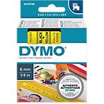Cinta para rotuladora DYMO 43618 negro sobre amarillo 6mm (a) x 0,6cm (h) x 7m (l) 7 m