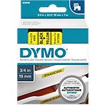 Cinta para rotuladora DYMO 45808 negro sobre amarillo 19mm (a) x 7m (l) 7 m