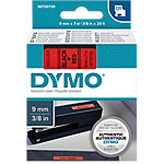 Cinta para rotuladora DYMO 40917 negro sobre rojo 9mm (a) x 7m (l) 7 m