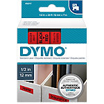 Cinta para rotuladora DYMO 45017 negro sobre rojo 12mm (a) x 7m (l)