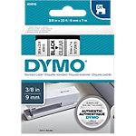 Cinta para rotuladora DYMO D1 negro sobre transparente 9mm (a) x 7m (l)