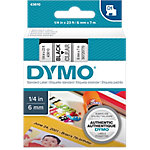 Cinta para rotuladora DYMO 43610 negro sobre transparente 6mm (a) x 7m (l) 1 de 7 m