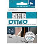Cinta para rotuladora DYMO 45010 negro sobre transparente 12mm (a) x 7m (l) 7 m