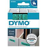 Cinta para rotuladora DYMO 45019 negro sobre verde 12mm (a) x 1,2cm (h) x 7m (l) 7 m