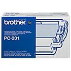 Cinta para fax Brother original PC 201 negro