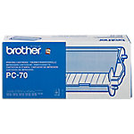 Cartucho y cinta de transferencia Brother original PC 70 negro