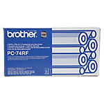 Cinta de transferencia térmica Brother original PC74RF negro 4 unidades