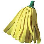 Fregona PLA Tiras suaves viscosa, poliéster amarillo