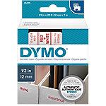Cinta para rotuladora DYMO 45015 rojo sobre blanco 12mm (a) x 700cm (h) x 7m (l) 7 m