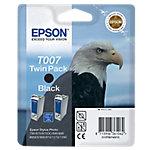 Cartucho de tinta Epson original t007 negro c13t00740210 2 unidades