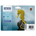 Cartucho de tinta Epson original t0487 negro & 5 colores c13t04874010 6 unidades
