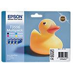 Cartucho de tinta Epson original t0556 negro & 3 colores c13t05564010 4 unidades